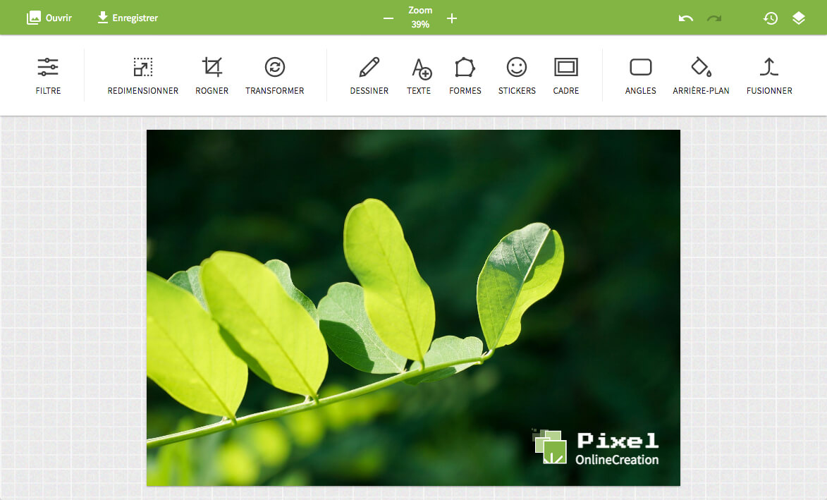 Pixel•OnlineCreation image editor